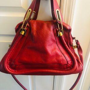 Chloe Paraty Grained Leather Medium Satchel Bags